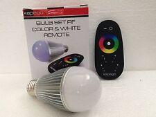 LAMPADA LED RF WIFI WIRELESS 8W RGB+WW E27 230V DIMMERABILE DA TELECOMANDO TOUCH
