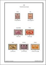 Album de timbres d'Alexandrette 1938 à imprimer
