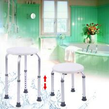 Adjustable Medical Round Shower Chair Bathtub Bench Bath Seat Aid Stool Seating
