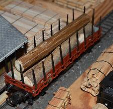 Ladegut Holz, Stämme Naturholz ca. 111 - 113 mm lang Ø 11,00 - 15,00 mm, 8 Stück
