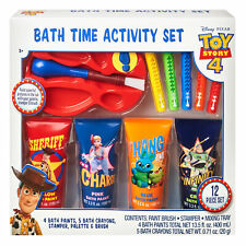 Disney Pixar Toy Story 4 12-Piece Bath Time Paint and Crayon Activity Set