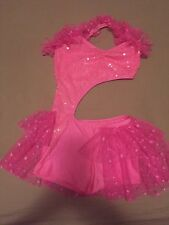 Pink Dance Costume, One Piece Unitard - Adult small/x-small