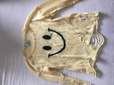Drop dead Crazy life smiley Sweater XS S4