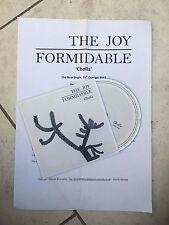 The Joy Formidable Cholla Promo CD 2012 Atlantic Records