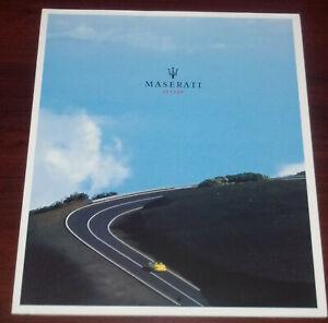 brochure 2001 MASERATI SPYDER !!! _____ english text ___________________________