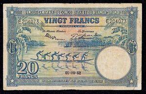 Belgian Congo  20  Francs  P-23  1952