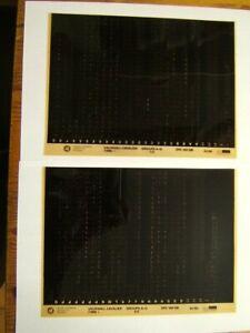 Set of 2 Genuine Vauxhall Microfiche Slides for Vauxhall Cavalier Mk3(1989 on)