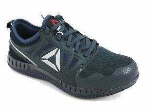 Reebok Work Womens Zprint Lightweight Steel Toe Safety Shoes Grey/Blue RB255