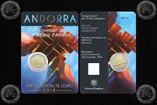 ANDORRA 2 EURO 2018 ( CONSTITUTION anni) Commemorative coin / CoinCard * UNC NEW