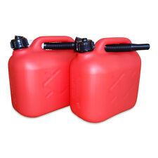 2 x 5 Liter Dieselkanister Benzinkanister UN-Zulassung rot inkl. Ausgießer NEU