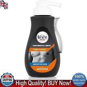Veet Chest And Body Men Hair Removal Cream For Sensitive Skin 400 ml Hydrating
