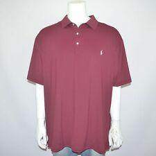 NWT POLO RALPH LAUREN Performance Stretch Burgundy Golf Polo Shirt Sz 3XLT