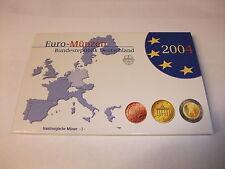 Euro Münzen Kursmünzensatz KMS Deutschland Hamburg J Polierte Platte PP 2004