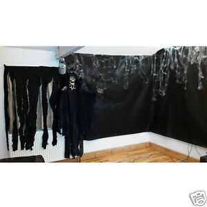 Halloween Black Backdrop Party Drape Photography 2m x 10m Black Material Screen