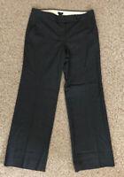 J Crew Dress Pants Womens 8 Gray Wool Favorite Fit Straight Leg EUC