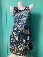 AMERICAN TWO SHOT Richards Blue CORSET LACE Shift Dress China Print Denim Shift