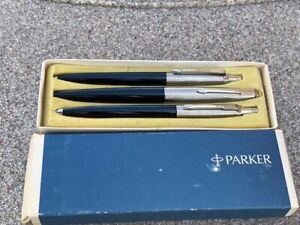 Parker 45 Set Trio HIGH LIGHTER Pen & Ballpoint Pen & Pencil  New In Box