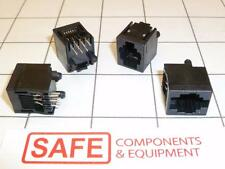 5520425-3 AMP TYCO MODULAR JACK RJ-25 6P6C Solder PCB Mount QTY-4  CA35
