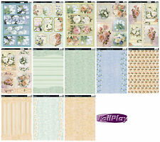 Floral Blooms card kit - die cut Kanban paper craft toppers & card, cardmaking