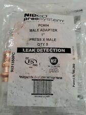 New listing Bag of 5 Nibco Press System Pc604 One Inch Press X Male 9031350Pc