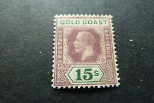GOLD COAST  1921  George V   15/-  Die II  SG 100a   mint