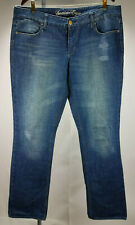 American Eagle women blue wash straight leg Xlong jeans size 16