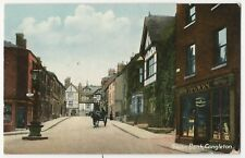 CONGLETON, VIEW DOWN THE VERY QUIET SWAN BANK, WITH PERRY'S SHOP ON RIGHT. CLR