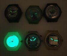 6 SWATCH quartz watches. Luminous hands. Swiss. For repair/Revision.