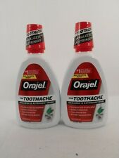 LOT OF 2 Orajel Analgesic and Astringent Toothache Rinse Soothing Mint 16 oz
