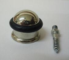 Chrome Brass + Rubber Floor Mounted Door Stop Stopper 31mm