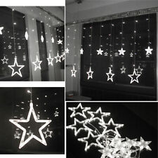 138LED Cool White 12 Twinkling Stars Festival Fairy String Lights Window Display