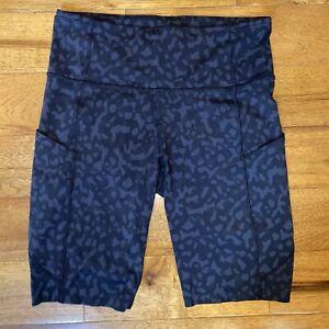"NWOT Lululemon 10"" Fast Free Bike Shorts, High Rise, Camo Gray/Black, Size 8"