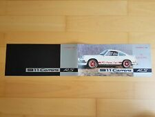 PROSPEKT brochure english PORSCHE 911 Carrera RS 911RS Opt. Touring Lightweight