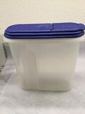 USED Anchor Hocking Food Storage Container Bin Cereal 3.5 L/12 Cups/3 QtBlue Lid