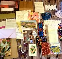 Junk Journal Ephemera Lot Papers & Trinkets 50+