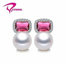 NATURAL PEARL EARRING, PEARL WITH 925 STERLING SILVER EARRINGS,