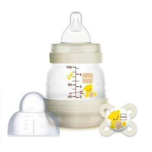 MAM Easy Start Anti-Colic Bottle & Soother Set, Self-Sterilising 130ml plus gift