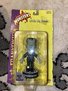"1998 Universal Monsters Series One Little Big Heads Frankenstein 3-1/2"" Toy"