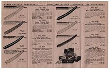 RARE Advertising Brochure Catalog 1921 Genco Straight Razor Canandaigua NY