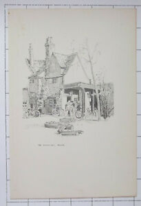 1915 OXFORD OXFORDSHIRE The Porters Lodge Trinity ~ Sketch By Fred Richards