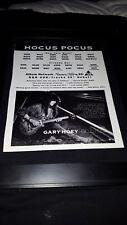 Gary Hoey Hocus Pocus Rare Original Radio Promo Poster Ad Framed! #1