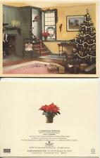 VINTAGE GRANDMOTHER MOLASSES COOKIES HEARTH RECIPE 1 CHRISTMAS MORNING TREE CARD