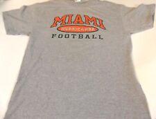 Hurricanes T Shirt University of Miami Football Large 90% Cotton 10% Polyester