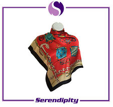 """Red Long and Soft """"Justice"""" Pure Silk Scarve/Shawl"""