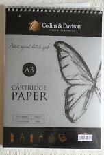 Collins & Davison Premium A3 Cartridge Paper Pad. New in sealed packaging