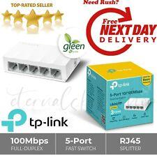 TP LINK 5 Port Fast Ethernet Switch RJ45 Splitter LAN Network 100Mbps Hub Wired