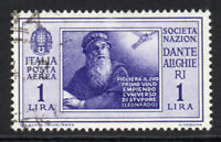 Italy 1 Lire Air Mail Stamp c1932 Fine Used (4957)