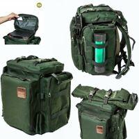 Saber Compact Green Rucksack Carp Fishing Short Session Rucksack Tackle Bag