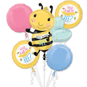 What Will the Honey Bee Gender Reveal Baby Shower Foil Balloon Bouquet Decoratio