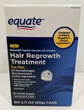 Equate Rogaine 6 Month Supply, 5% Foam Topical, Hair RegrowthExp 10/2021